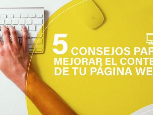 5 Consejos para Mejorar el Contenido de tu Página Web